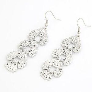 Silver Dangle Charm Earrings